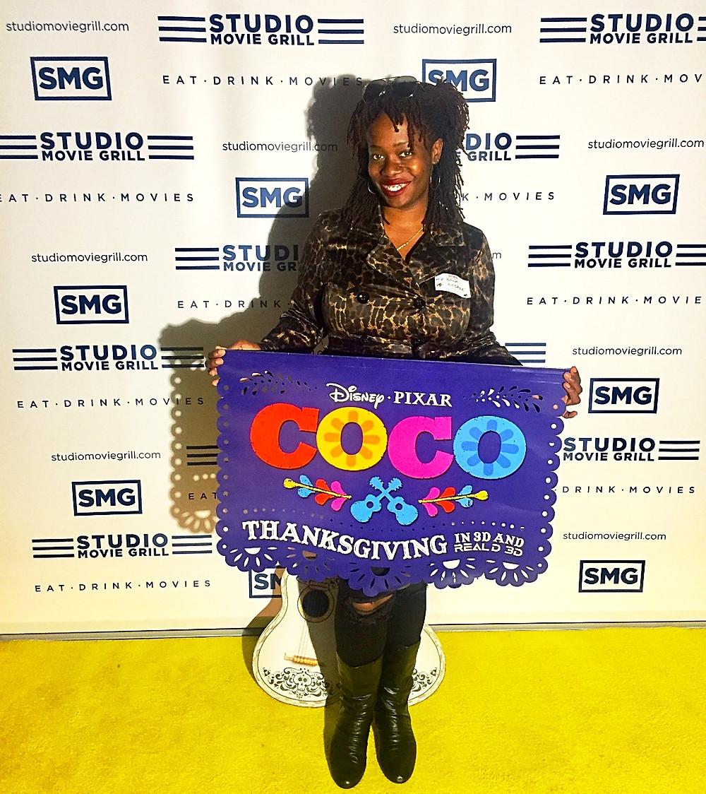 Ash Said It attends Pixar Coco Screening at Studio Movie Grill Marietta