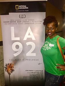 Ash Brown attends #LA92 Screening in Atlantic Station
