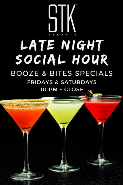 STK's Social Hour Menu Goes Late Night