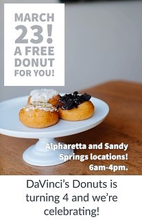 Free Donuts from Davinci's Donuts