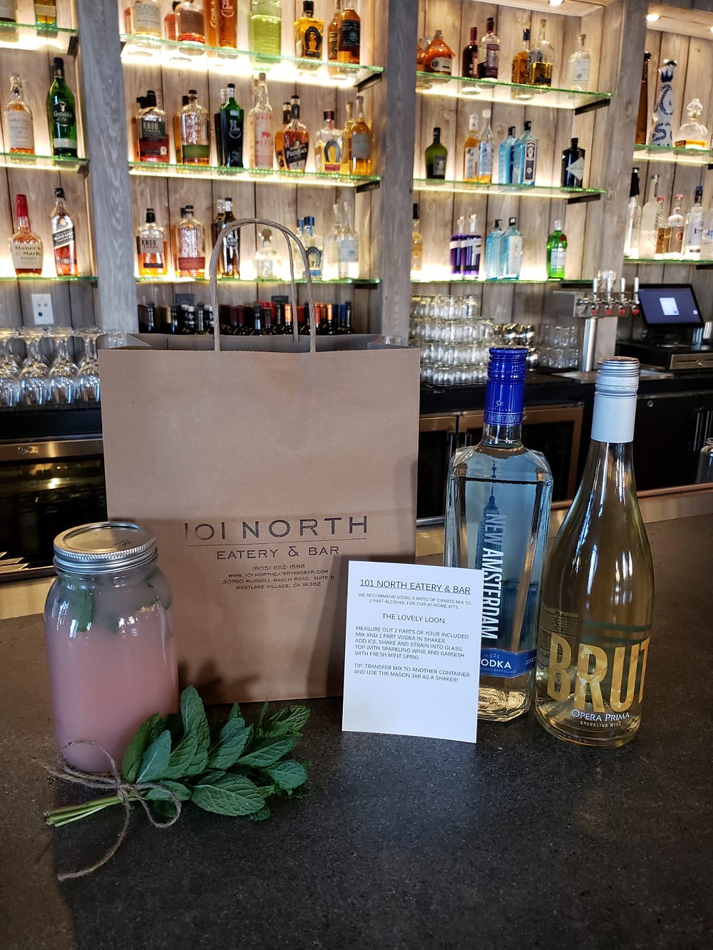 """All Day, Every Day Happy Hour: 101 North Eatery & Bar Creates """"Cocktail Kits"""" INCLUDING Alcohol For Quarantine"""