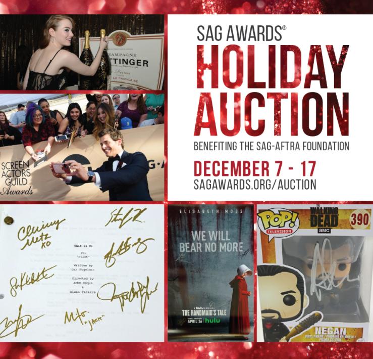 Sag Awards Holiday Auction
