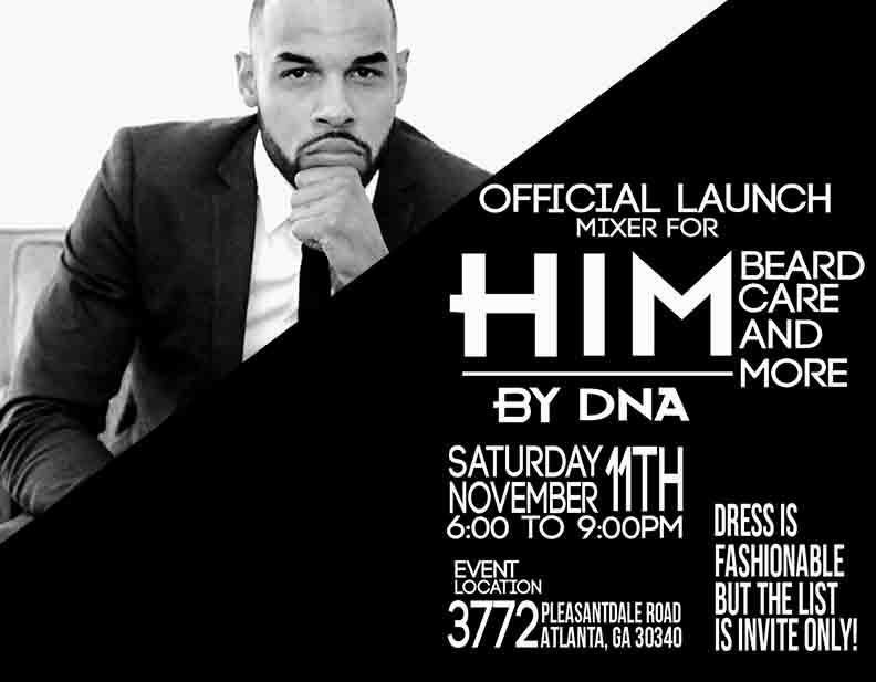 HIM By DNA official launch party Atlanta
