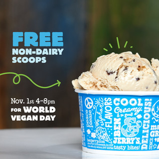Ben & Jerry's of Inman Park Serves Fans Fun FREE Non-Dairy Flavors