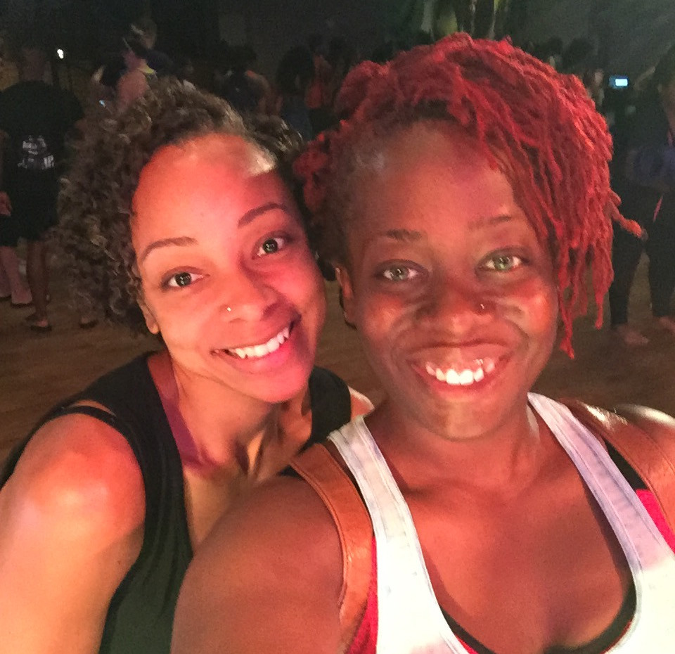 Ash Said It attends Hip Hop Yoga with instructor Jaimee Ratcliff