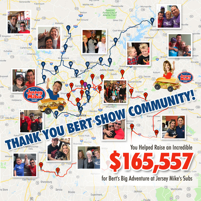 """Jersey Mike's """"Day of Giving"""" Set New Record for Bert's Big Adventure"""