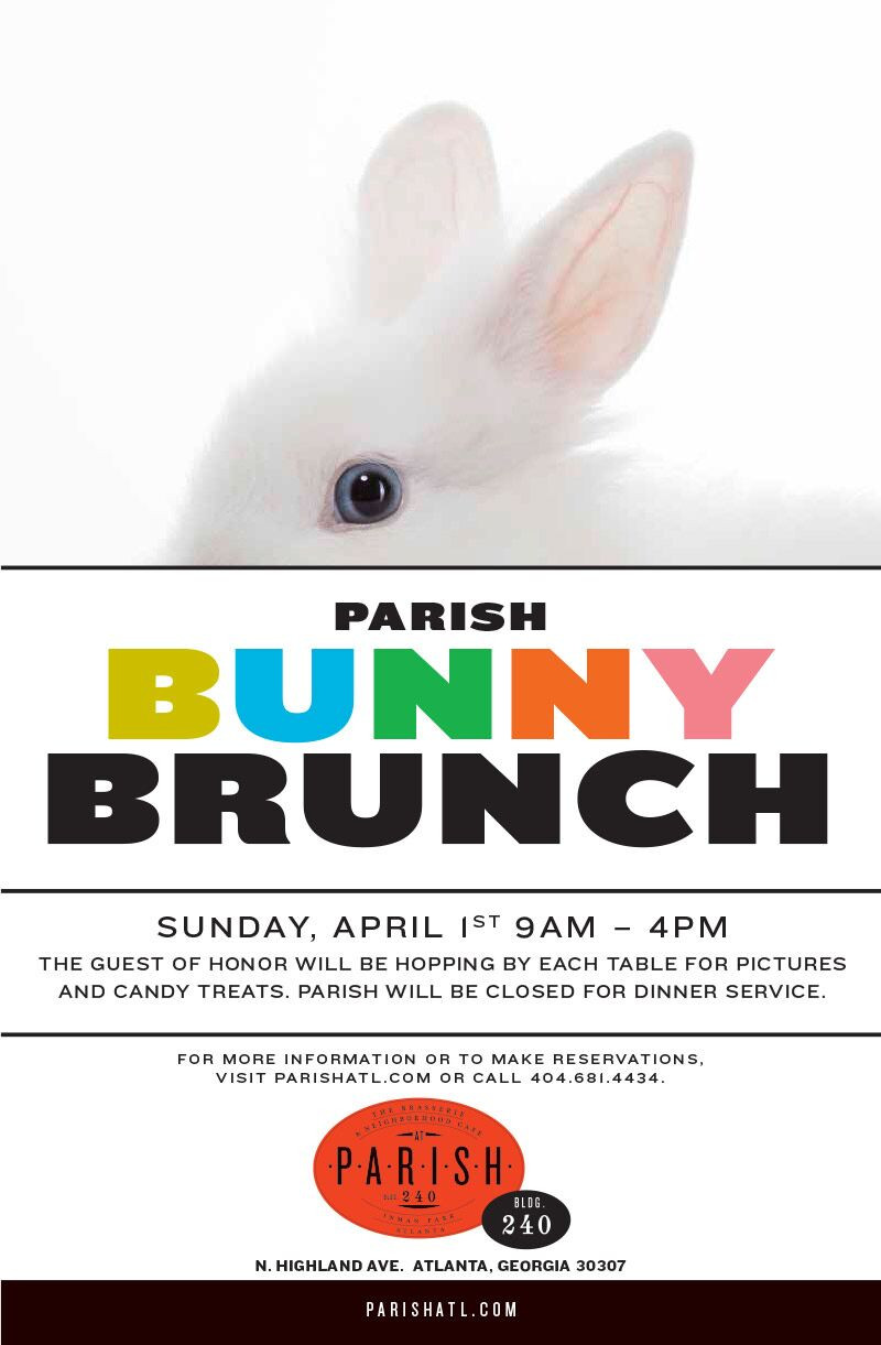 PARISH Hosts an Early Easter Bunny Brunch, 9 a.m