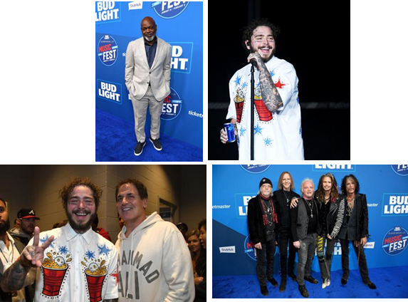 Post Malone & Aerosmith rock Super Bowl weekend at the first-ever Bud Light Super Bowl Music Fest