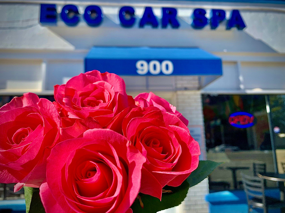 Will You Accept this Rose? Eco Car Spa Presents Girls Night Out Grand Opening Special Feb. 14