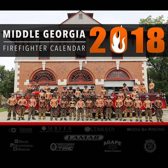 The Middle Georgia Firefighter Calendar featured on Ash Said it