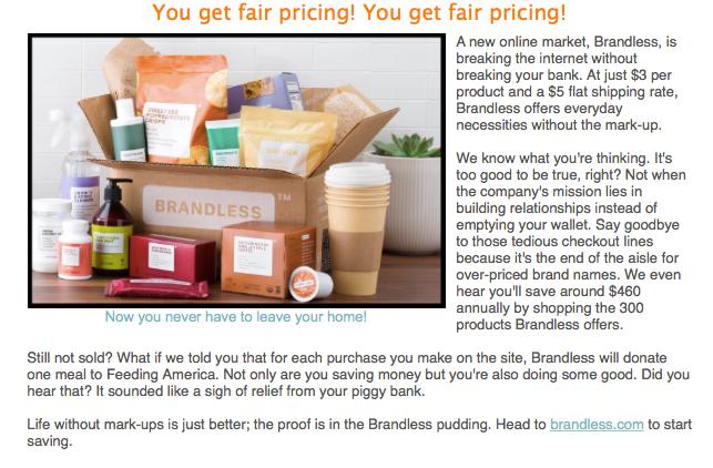 OBSESSED: Brandless Shopping