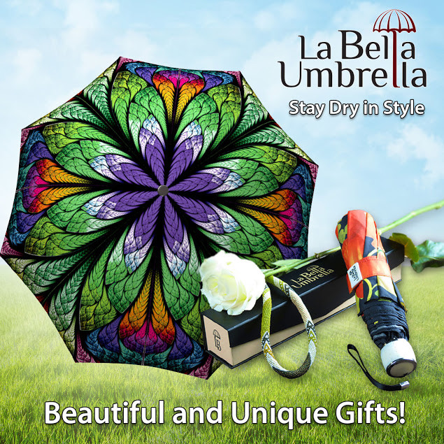 Your New Fashion Must-Have: Brilliant Umbrellas from La Bella