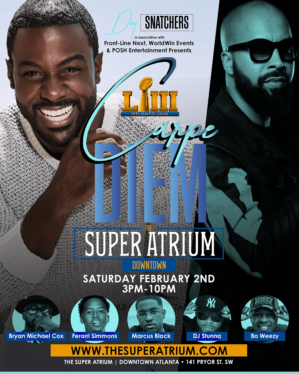 Carpe Diem: Day Party 2019 Super Bowl Edition Hosted By Lance Gross & Kenny Burns At The The Super Atrium