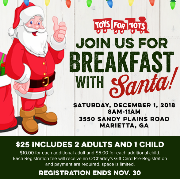 Hurry in for Breakfast with Santa❗