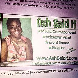 Blogger Ash Said it