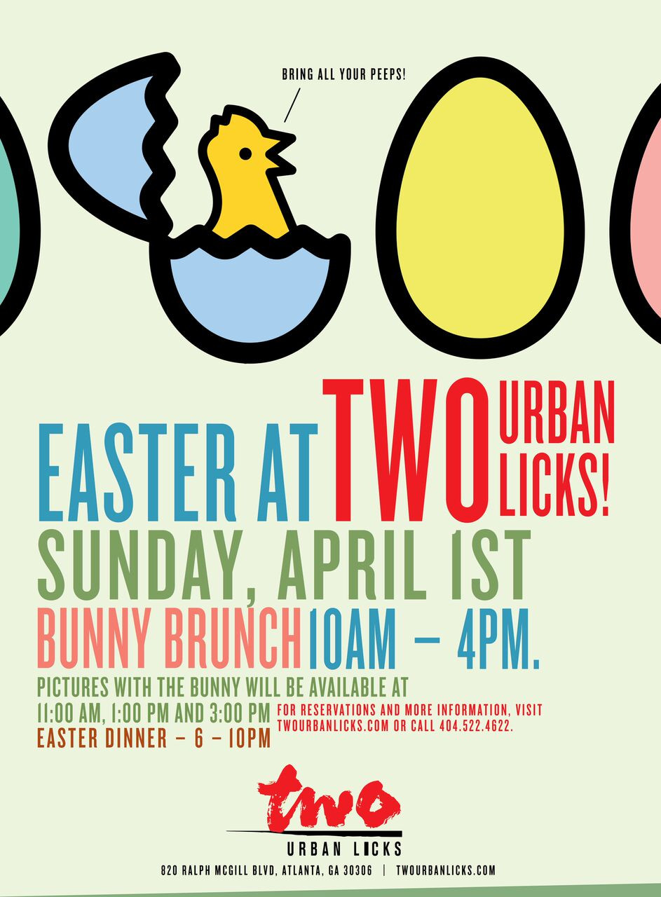 Bunny Brunch at TWO urban licks, 10 a.m.