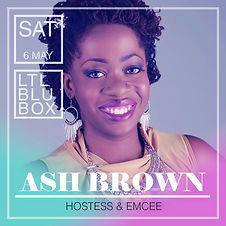 Little Blue box emcee Ash Brown of Ash Said It