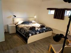 De slaapkamer in de gite