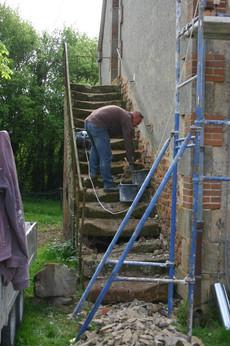 Renovatie van de trap