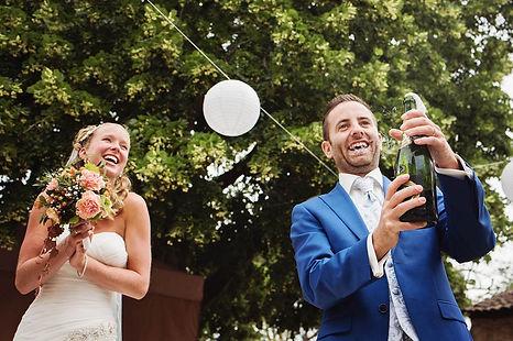 Champagnne trouwen in Frankrijk Lot Camp del Saltre