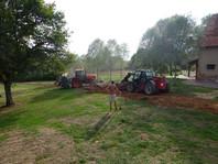 Graven voor de stroomkabels