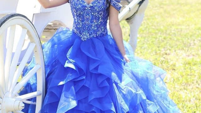 Royal Blue quinceanera dress