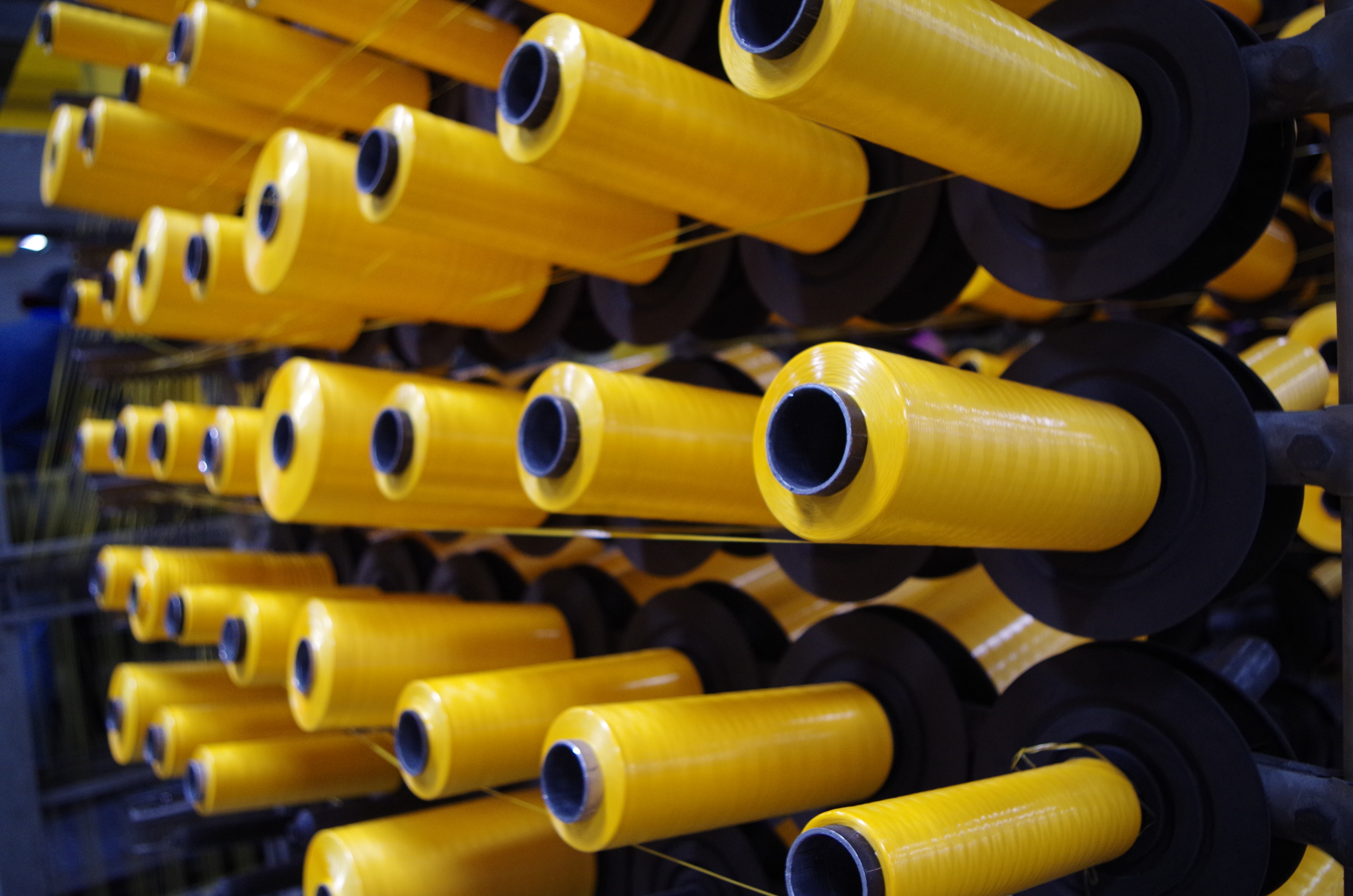 Yellow PP Woven Thread Ready for Product