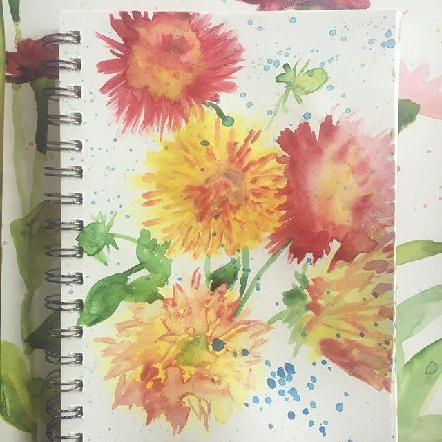 Watercolor Flower Painting in my Creative Gratitude Journal