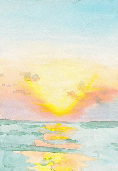 August Sunset at Tropical Beach