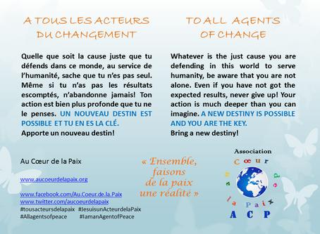 A tous les Acteurs du changement / To all Agents of change