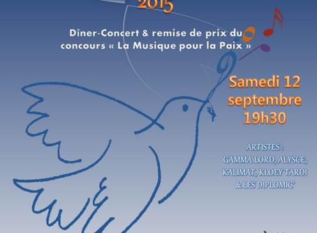 """GALA DE LA PAIX 2015 : Remise des prix du concours """"La Musique pour la Paix"""""""