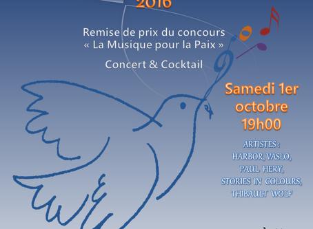 """GALA DE LA PAIX 2016 : Remise des prix du concours """"La Musique pour la Paix"""""""