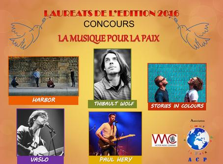 LA MUSIQUE POUR LA PAIX : LAUREATS 2016