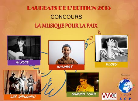 La Musique pour la Paix : LAUREATS 2015