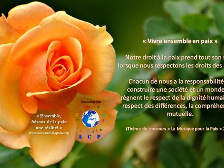 Joyeuse Journée Internationale de la Paix