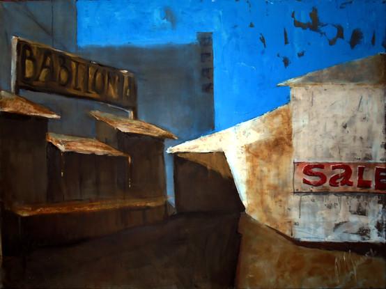 """""""Sale"""", canvas, oil, 70x90, 2017"""