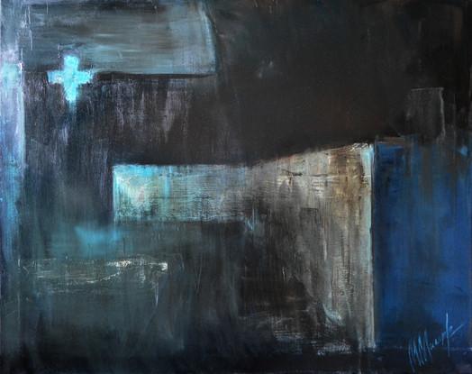 """""""City lighthouse"""", oil on canvas, 70x90, 2017"""