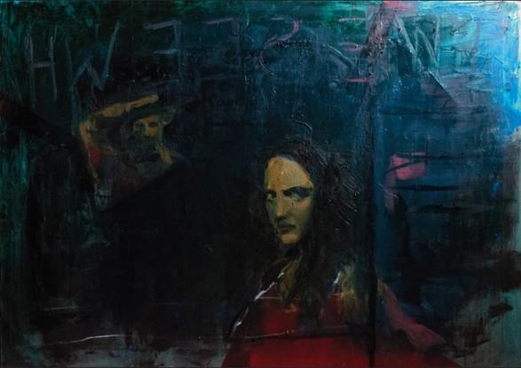 """In Opposite Window"", canvas, oil, 70x99, 2019"