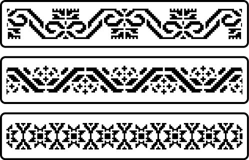 Schablone Mexican Embroidery Border Set