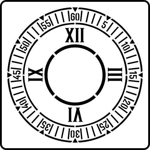 Schablone Clock