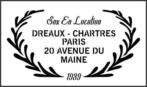 Schablone Dreaux Chartres