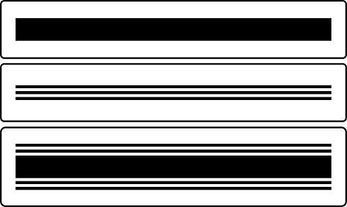 Schablone Grain Sack Stripes