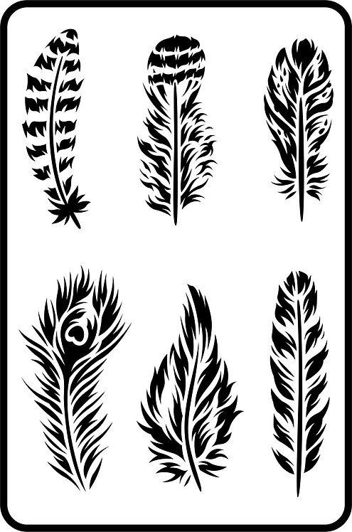 Schablone Feathers