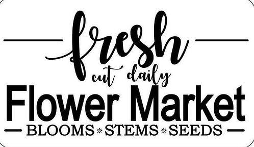 Schablone Fresh Flower Market