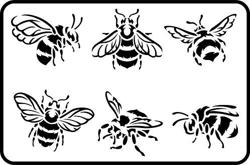 Schablone Bees