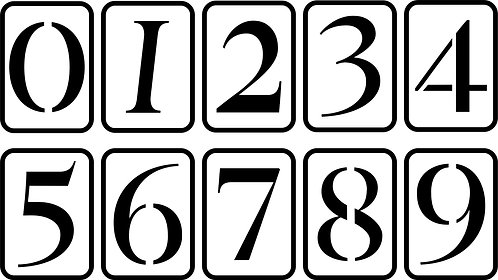 Schablone 5'' Number Set