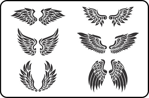 Schablone Wings