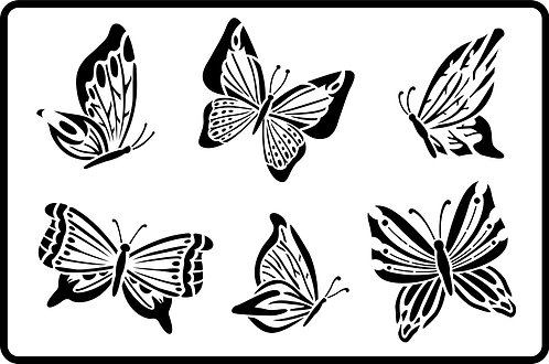 Schablone Butterflies