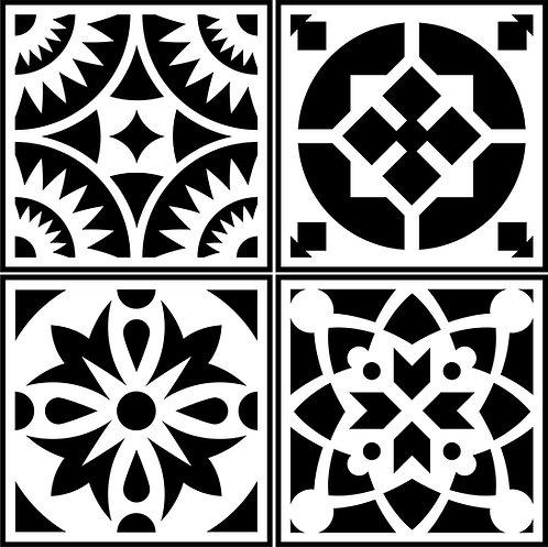 Schablone Spanish Tile 4 Pack
