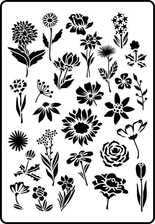 Schablone Flower Garden